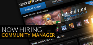 Now Hiring SMITEFire Community Manager!