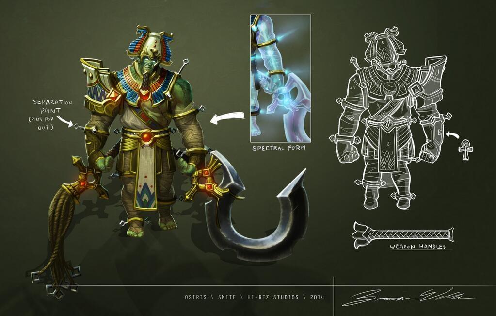 Osiris Concept Art :: SmiteFire